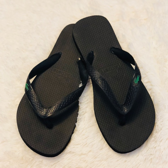 78e5b5daf90d74 Lacoste Shoes - Never worn!! New Lacoste 🐊 Black Flip Flops